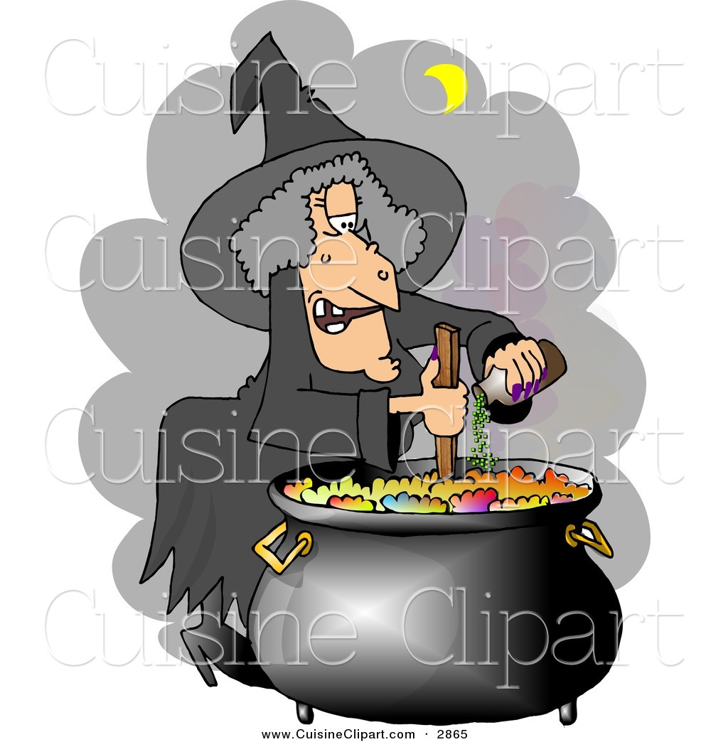 Witches brew pot clipart image Cuisine Clipart of a White Had Witch Cooking a Potion in a ... image