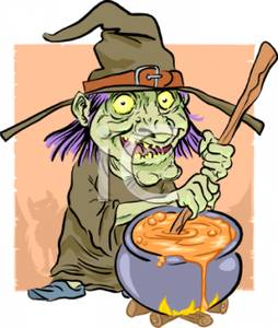 Witches brew pot clipart freeuse download Cartoon of a Wicked Witch Stirring a Cauldron Full of ... freeuse download