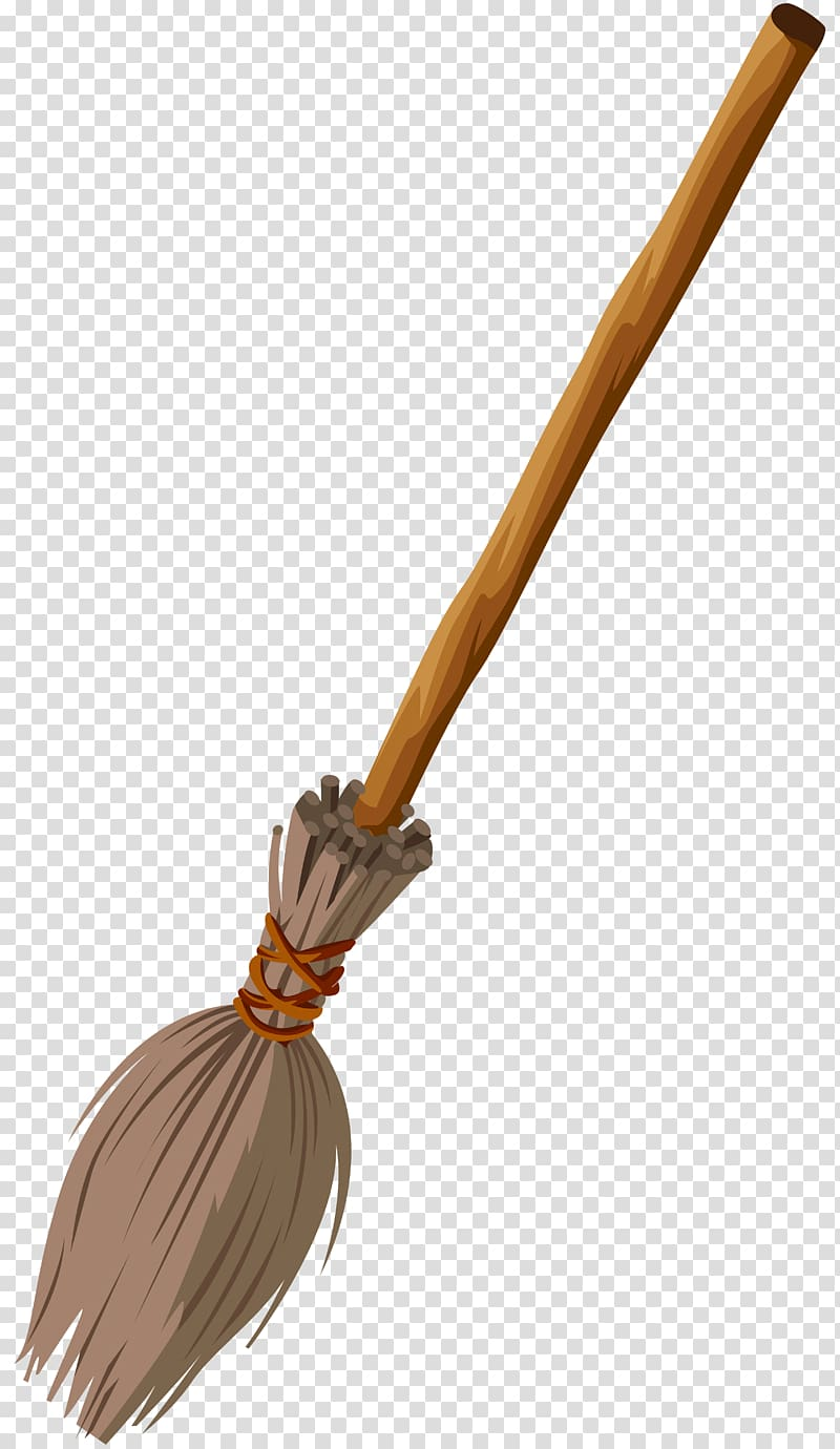 Witches broom and staff clipart black and white stock Beige and gray broomstick illustration, Witch\\\'s broom ... black and white stock