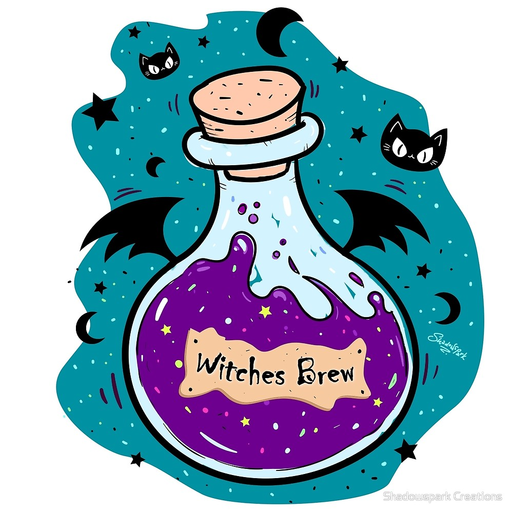 Witches potion clipart banner free library Witches Brew - Magic Potion Bottle\
