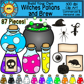 Witches potion clipart clip download Build Your Own Witches Potions and Brew Clip Art clip download