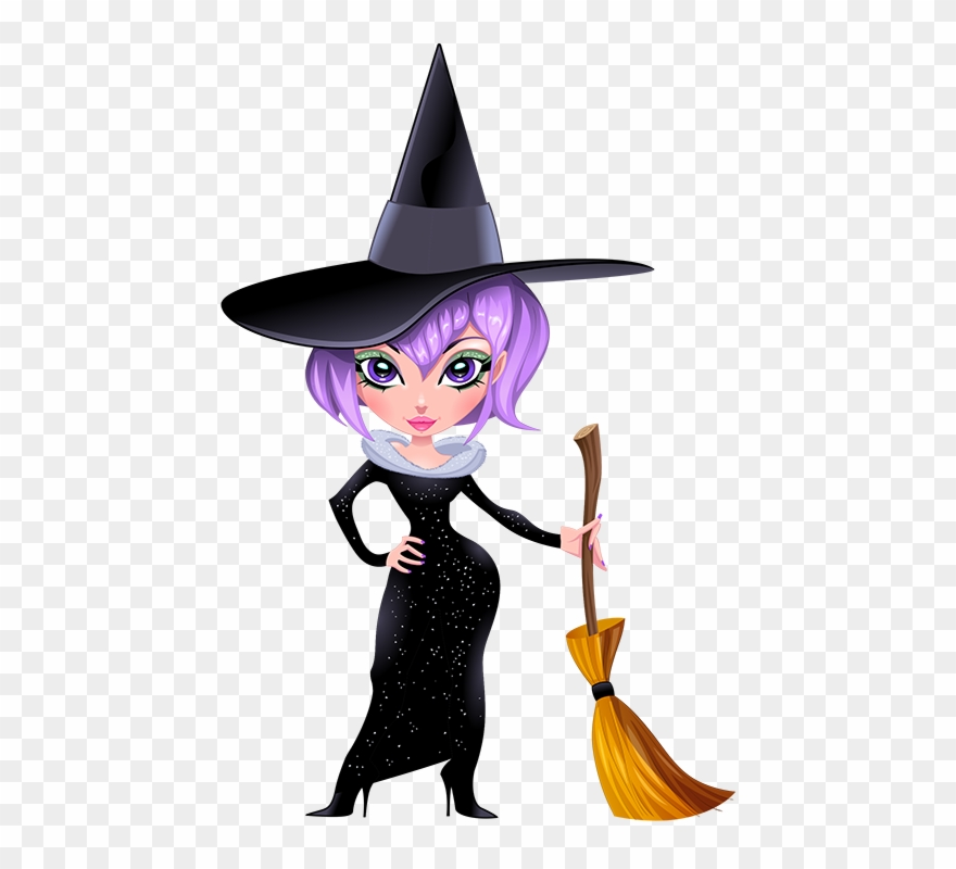 Witcj clipart vector freeuse download Gifs Halloween Witches Pinterest - Transparent Witch Clipart ... vector freeuse download