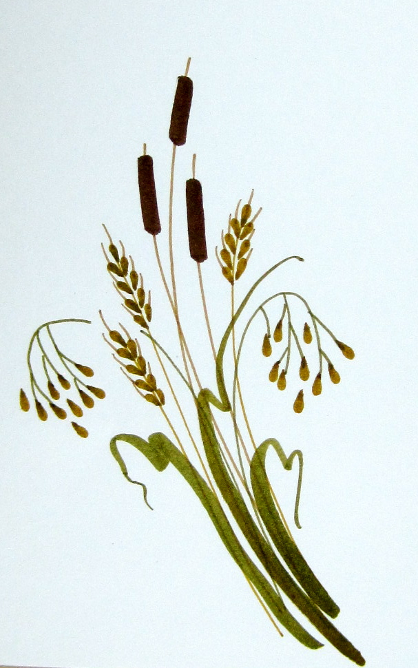 Withered wheat clipart picture royalty free Harvest Grains DoodleDabs | Marie Browning picture royalty free