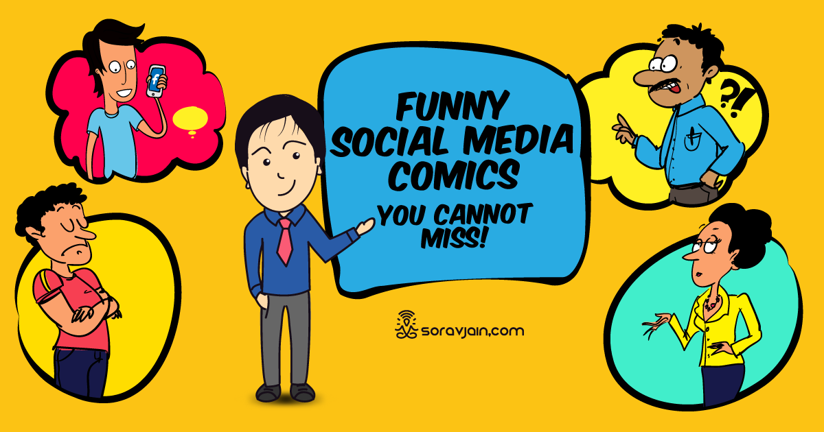Witty conversation clipart jpg black and white stock 40 Hilarious Social Media & Digital Marketing Cartoons jpg black and white stock