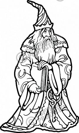 Wizard clipart drawings