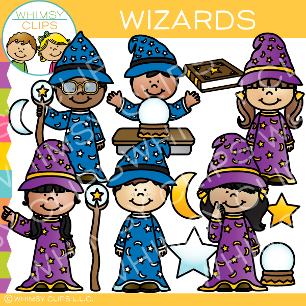 Wizard clipart for kids vector download Wizard kids clip art , Images & Illustrations | Whimsy Clips ® vector download
