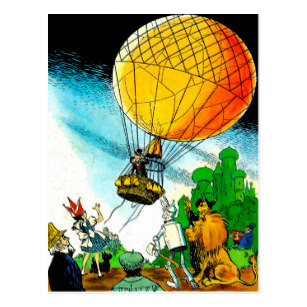 Wizard of oz balloon clipart picture freeuse stock Wizard of Oz in Hot Air Balloon Postcard picture freeuse stock