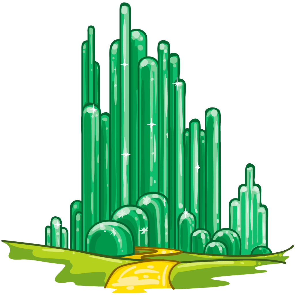 Wizard of oz crown clipart jpg black and white library Emerald City As Cactii - cactii referencing deserts of the Southwest ... jpg black and white library
