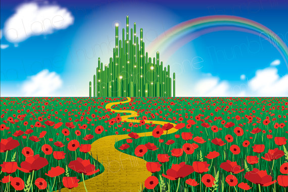 Wizard of oz rainbow clipart clip freeuse Printable Wizard of Oz Backdrop, Instant Download, 6ft x 4ft ... clip freeuse