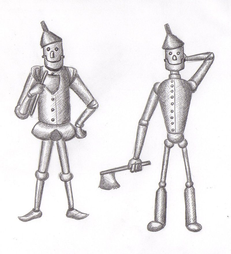 Wizard of oz tinman clipart png black and white library Tin Man Clip Art   Wizard of Oz Man of tin-plate by hnl ... png black and white library