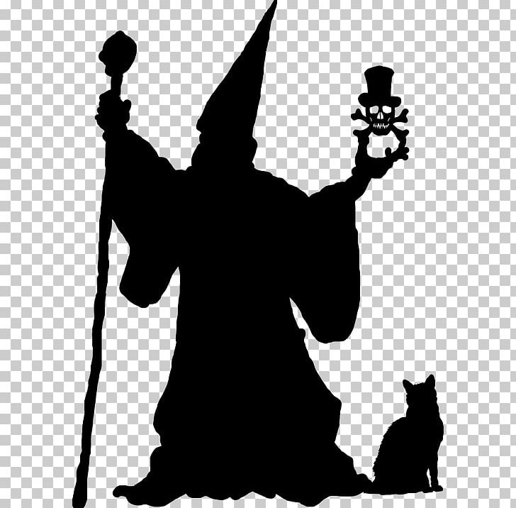 Wizard staff silhouette clipart banner free stock Magician Silhouette Wizard PNG, Clipart, Animals, Art ... banner free stock