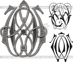 Wo clipart graphic library Monogram WO - vector clipart graphic library