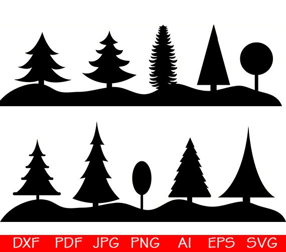 Wo clipart svg transparent Tree SVG, Forest SVG Bundle, Forest SVG, Forest Clipart, Cut ... svg transparent