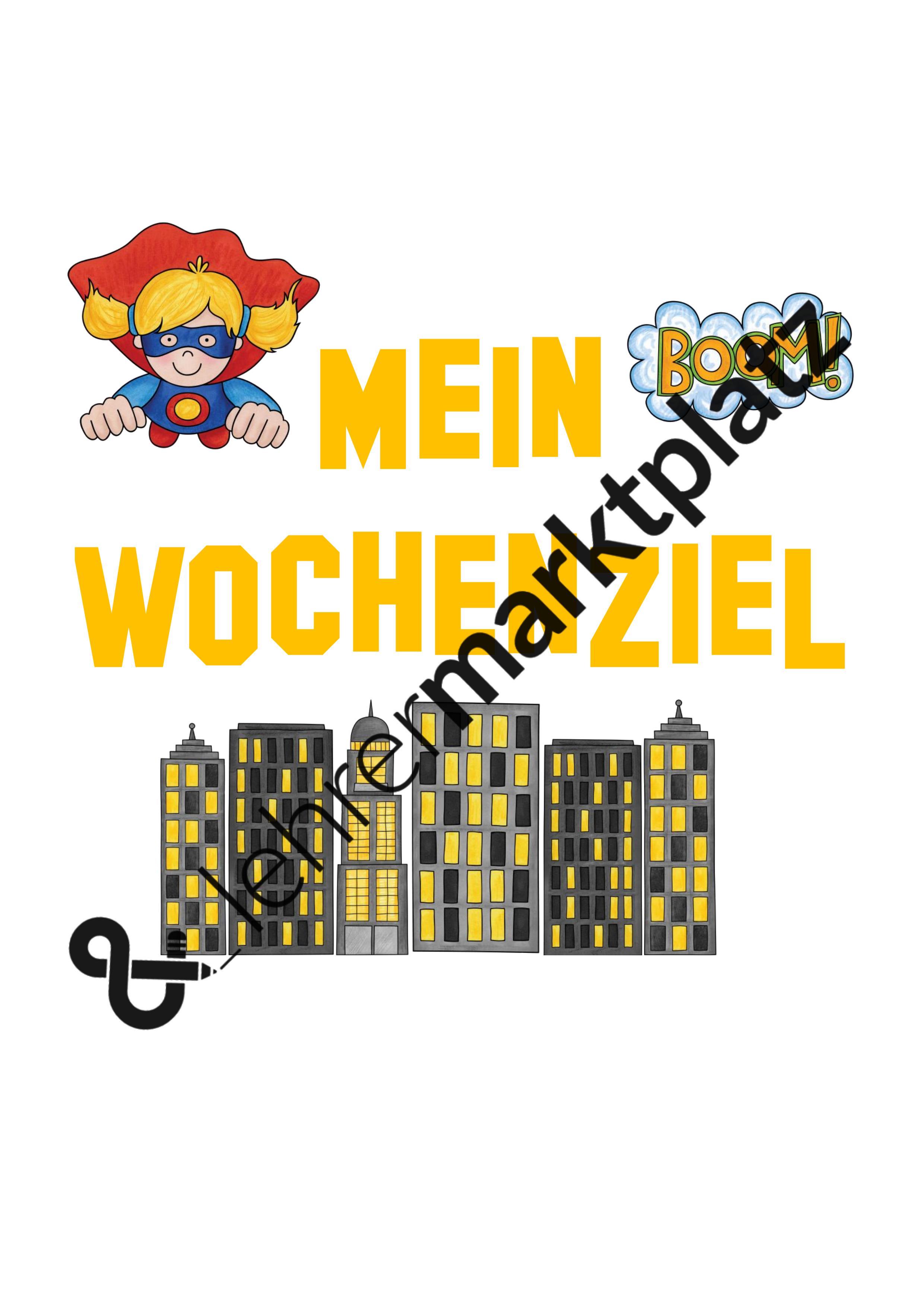 Wochenziel clipart graphic transparent download Mein Wochenziel Superhelden graphic transparent download