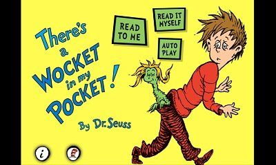 Wockets in my pocket clipart banner freeuse library Dr. Seuss Wocket in My Pocket Clip Art   Pocketful of awwww ... banner freeuse library
