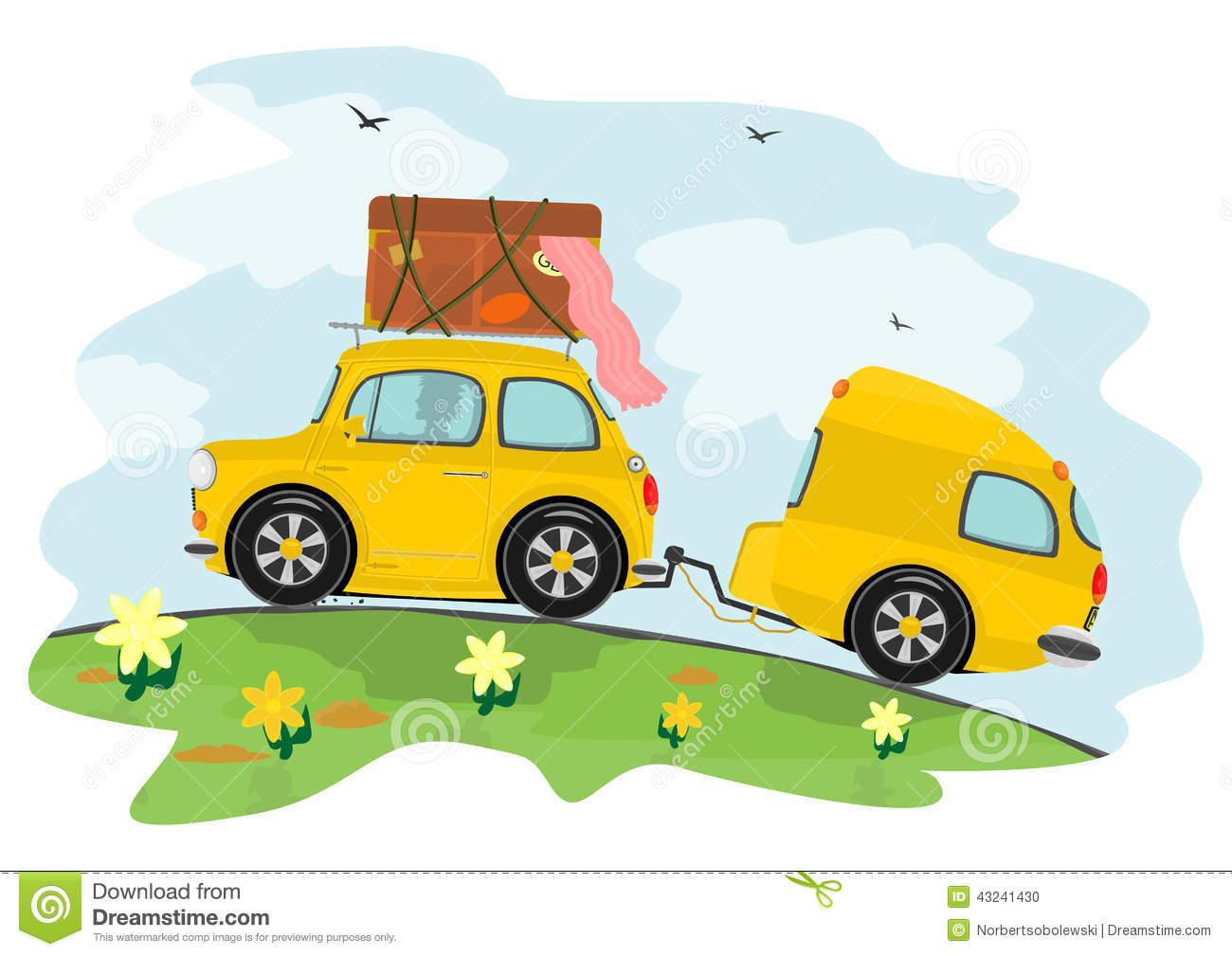 Wohnwagen clipart kostenlos picture free Auto Und Wohnwagen Vektor Abbildung - Bild: 43212128 picture free