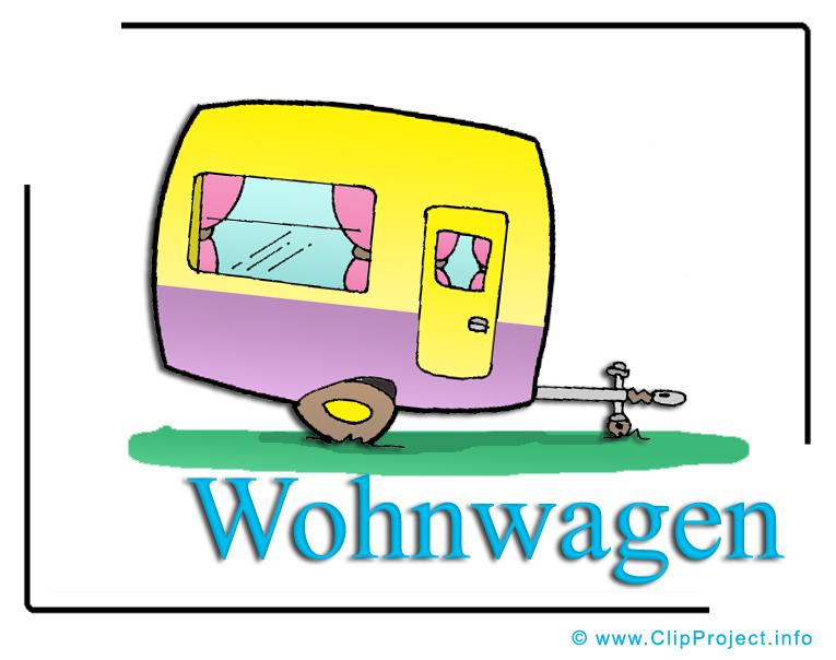 Wohnwagen clipart kostenlos banner free Wohnwagen Bild-Clipart free banner free