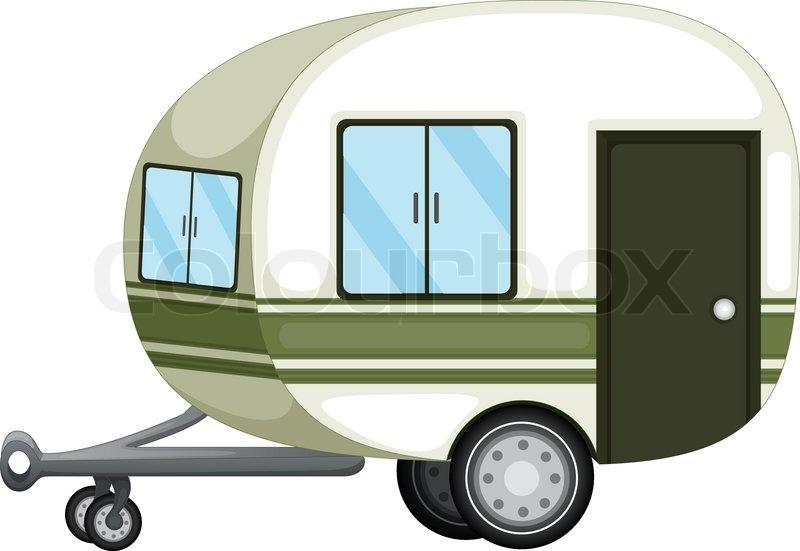 Wohnwagen clipart kostenlos clip stock Caravan oder Wohnmobil Symbol | Vektorgrafik | Colourbox clip stock