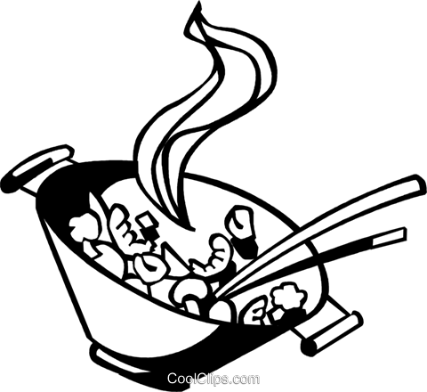 Wok cooking clipart clipart library download Chinese food cooking in a wok Royalty Free Vector Clip Art ... clipart library download