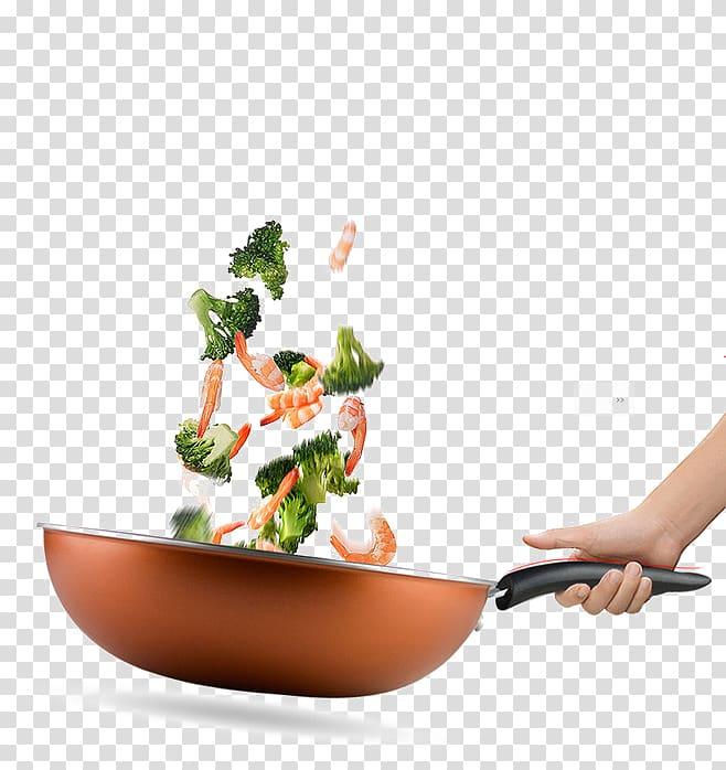 Wok cooking clipart banner freeuse Person cooking stir fried broccoli and shrimps, Jiaozi ... banner freeuse