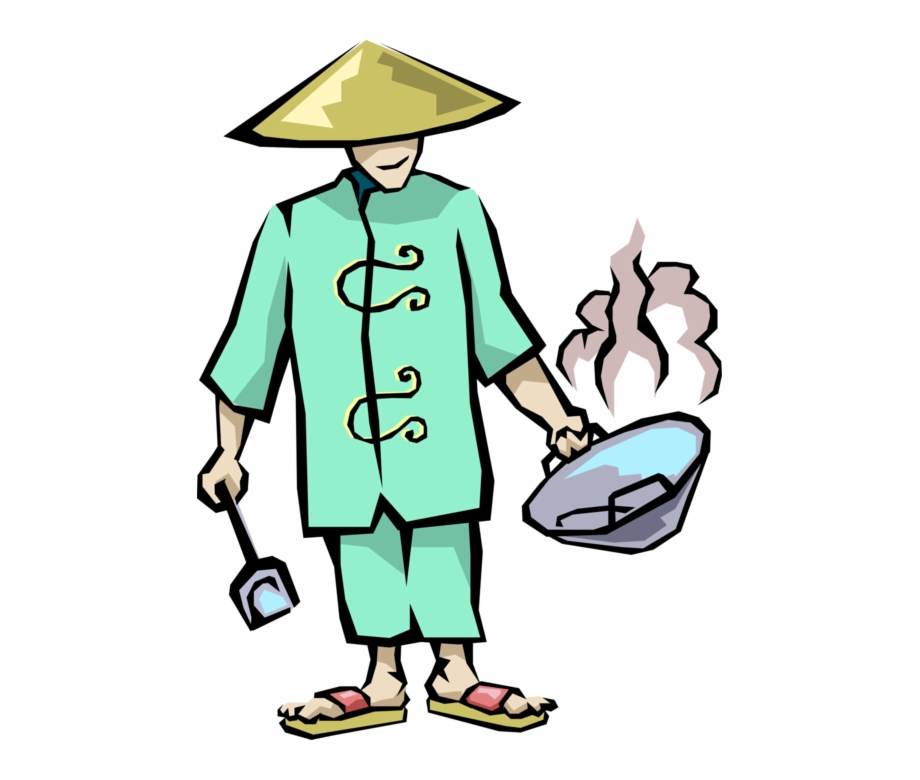 Wok cooking clipart clip art royalty free download Banner Library Download Chinese Chef With Wok Vector ... clip art royalty free download