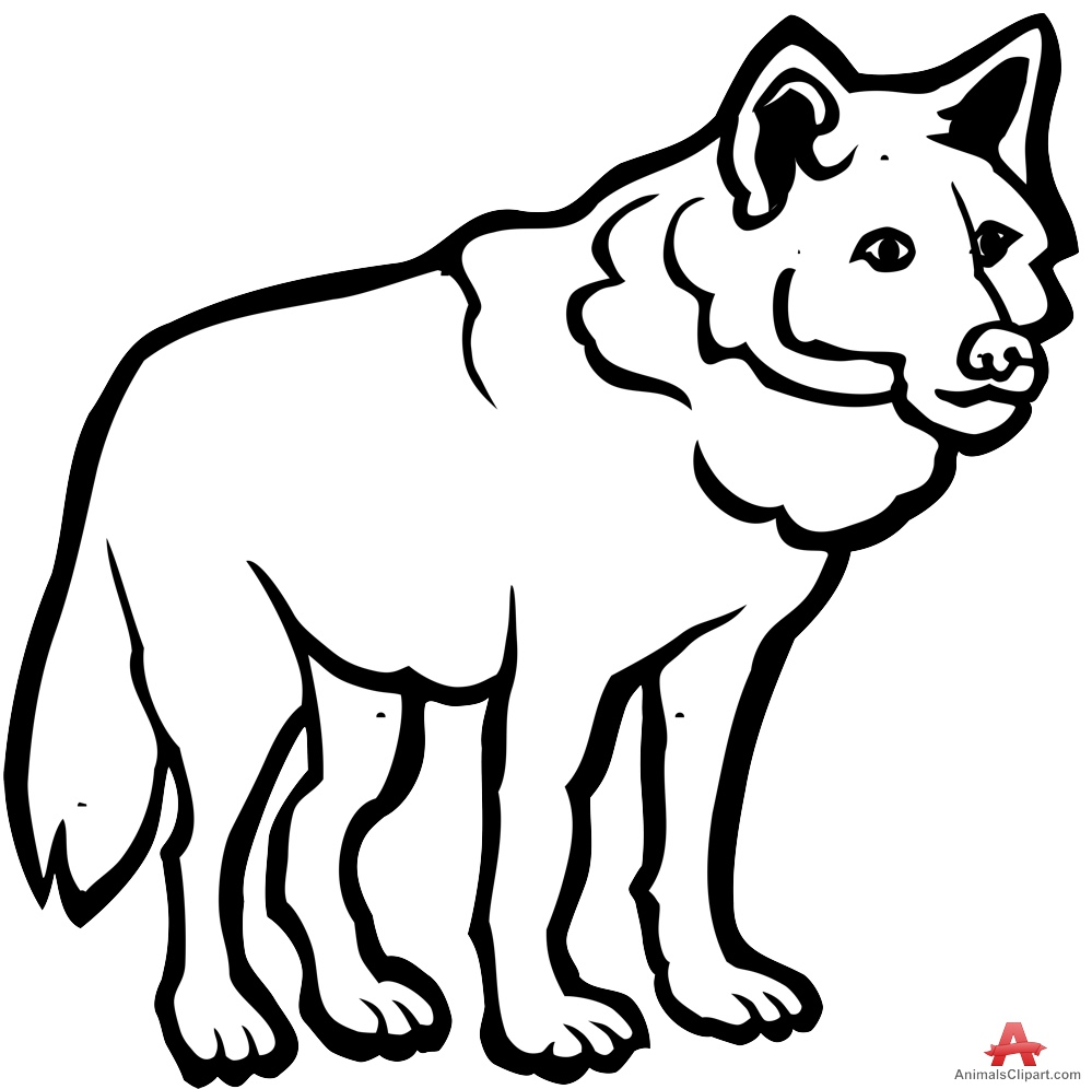 Wolf clipart black and white jpg royalty free download Wolf clipart black and white 8 » Clipart Station jpg royalty free download