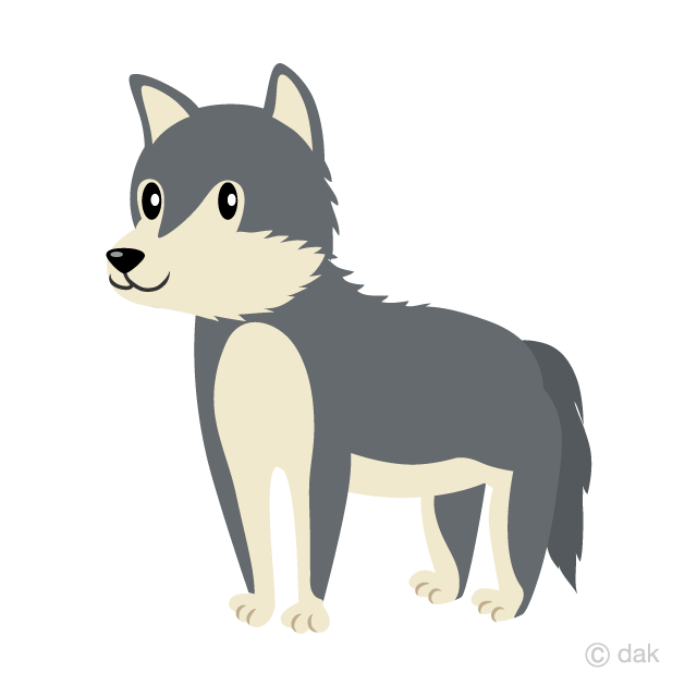 Free cartoon wolf clipart. Cute picture illustoon