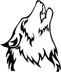 Wolf native american clipart