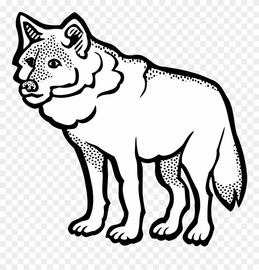 Wolf clipart black and white clip library library Big Image - Wolf Clipart Black And White - Png Download ... clip library library