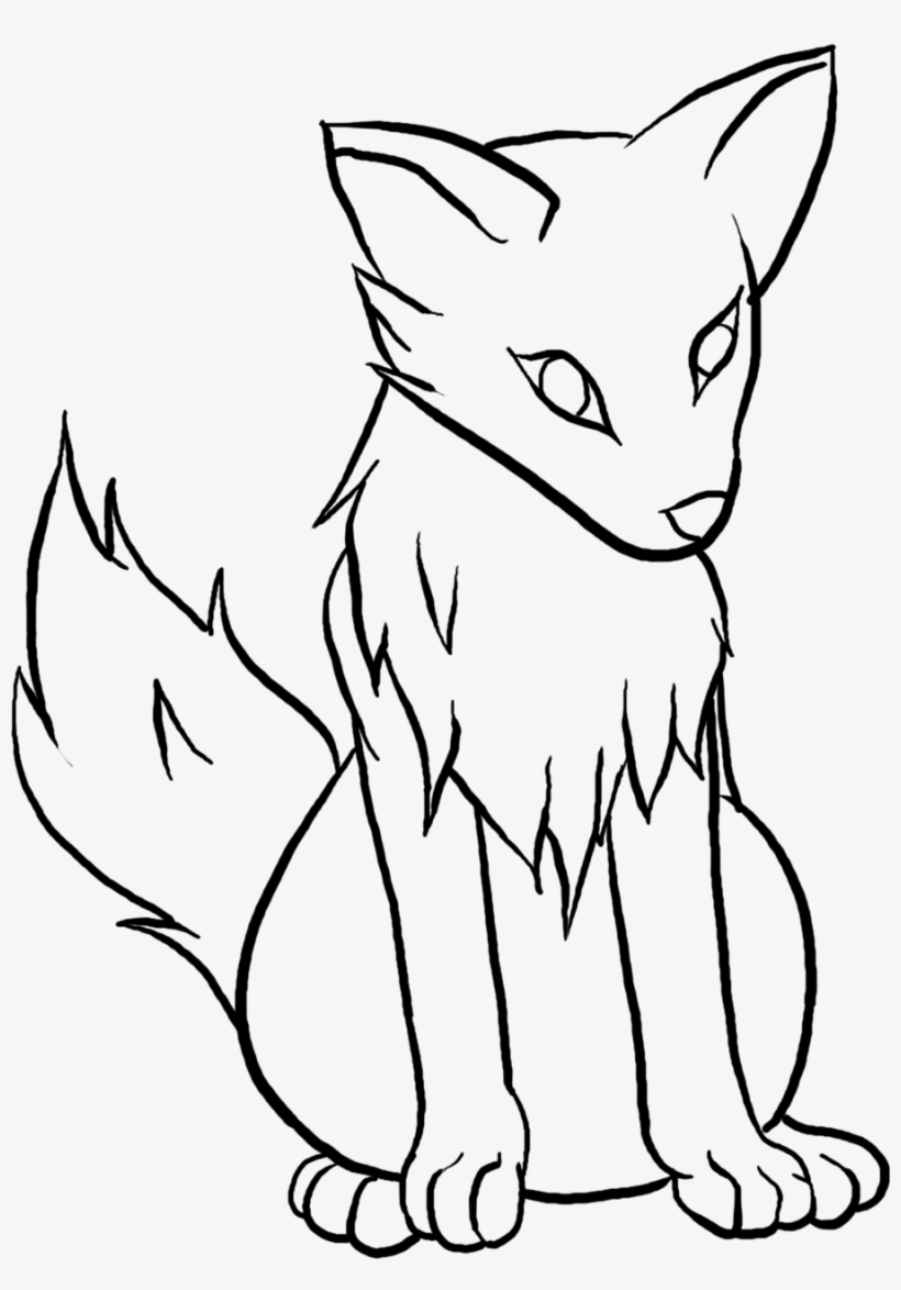 Wolf clipart easy jpg black and white download Wolf Clipart Easy - Wolf Pup Drawing Easy Transparent PNG ... jpg black and white download