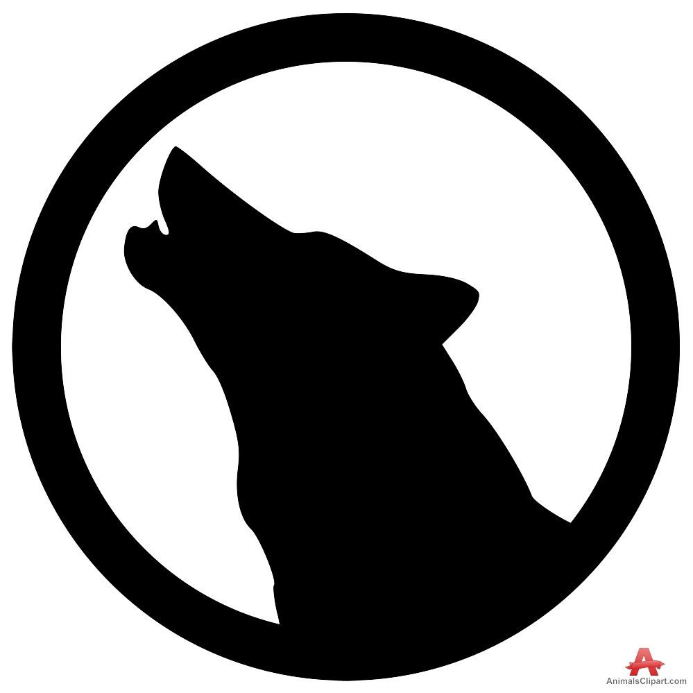 Wolf clipart logo vector download Howling Wolf Head Logo - LogoDix vector download