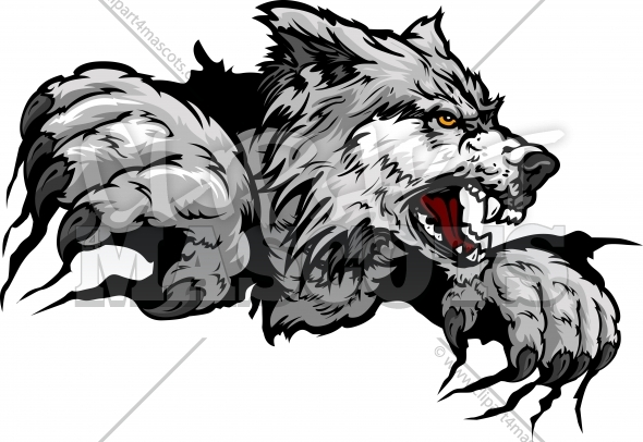 Wolf clipart logo clipart free Wolf Claws Graphic Vector Logo clipart free