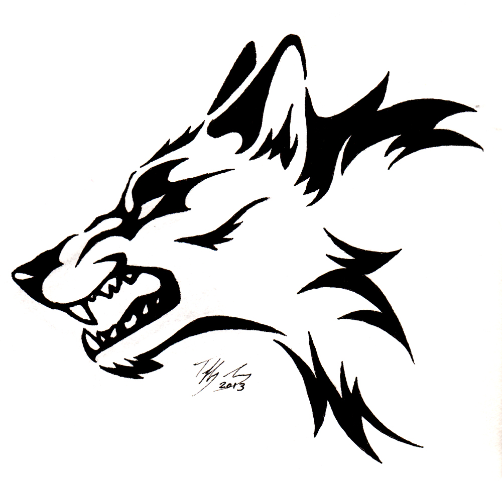 Wolf clipart tattoo image library stock Free Running Wolf Tattoo, Download Free Clip Art, Free Clip ... image library stock