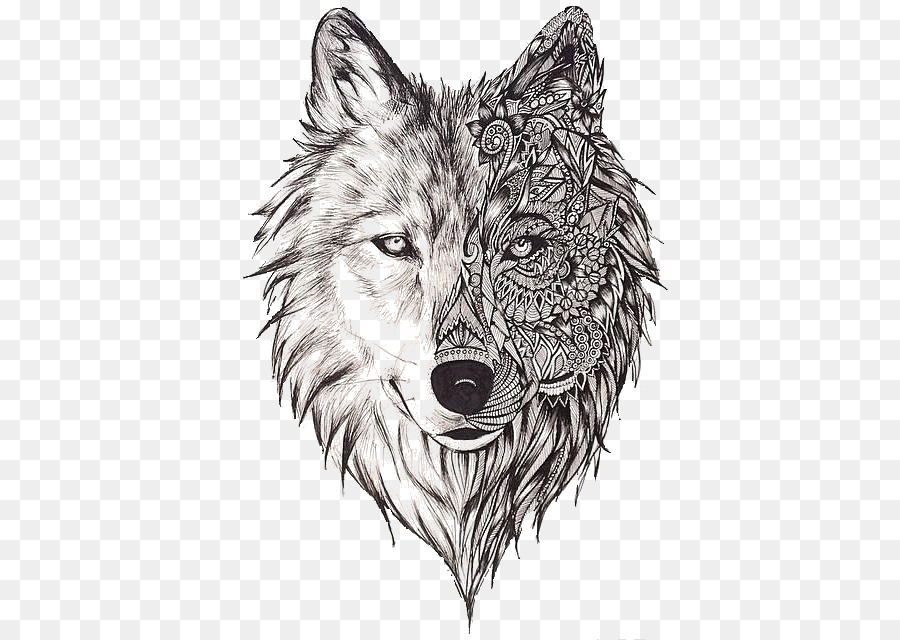 Wolf clipart tattoo svg library stock Wolf Cartoon clipart - Wolf, transparent clip art svg library stock