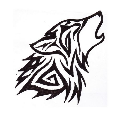 Wolf clipart tattoo picture black and white stock Running Wolf Tattoo Clipart | Free download best Running ... picture black and white stock