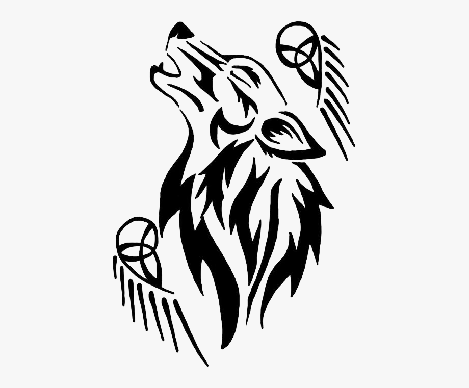 Wolf clipart tattoo banner library library Tatoo Gray Wolf Tattoo Free Clipart Hd - Tribal Wolf Tattoo ... banner library library