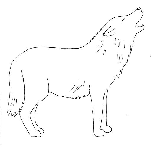 Wolf drawing clipart png black and white Free Easy Wolf Drawings, Download Free Clip Art, Free Clip ... png black and white