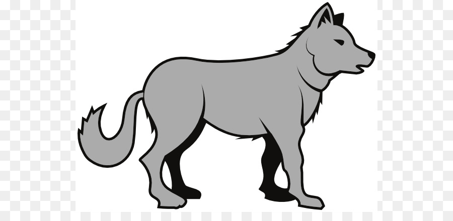 Wolf drawing clipart clip black and white stock Wolf Drawing png download - 600*422 - Free Transparent Gray ... clip black and white stock