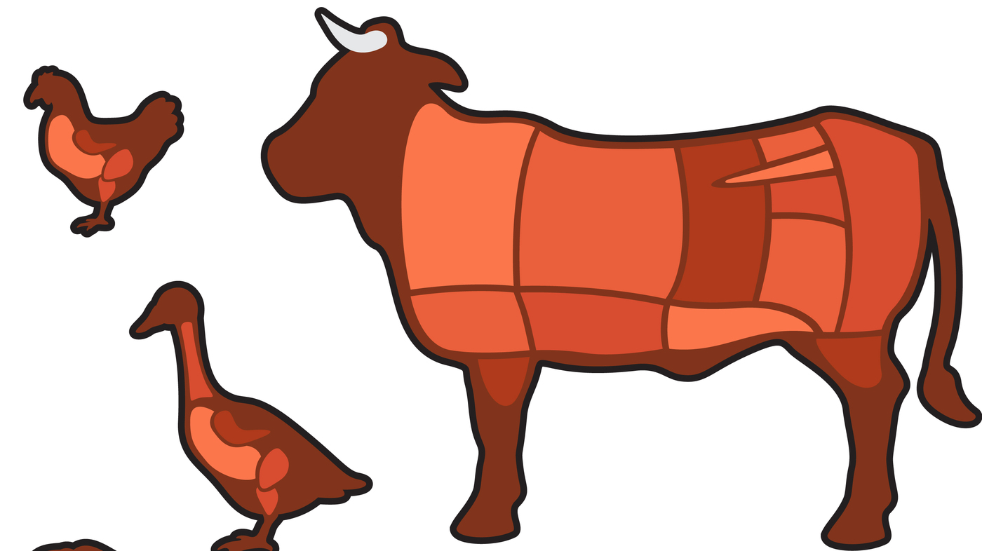 Wolf eating steak clipart graphic download A Nation Of Meat Eaters: See How It All Adds Up : The Salt : NPR graphic download