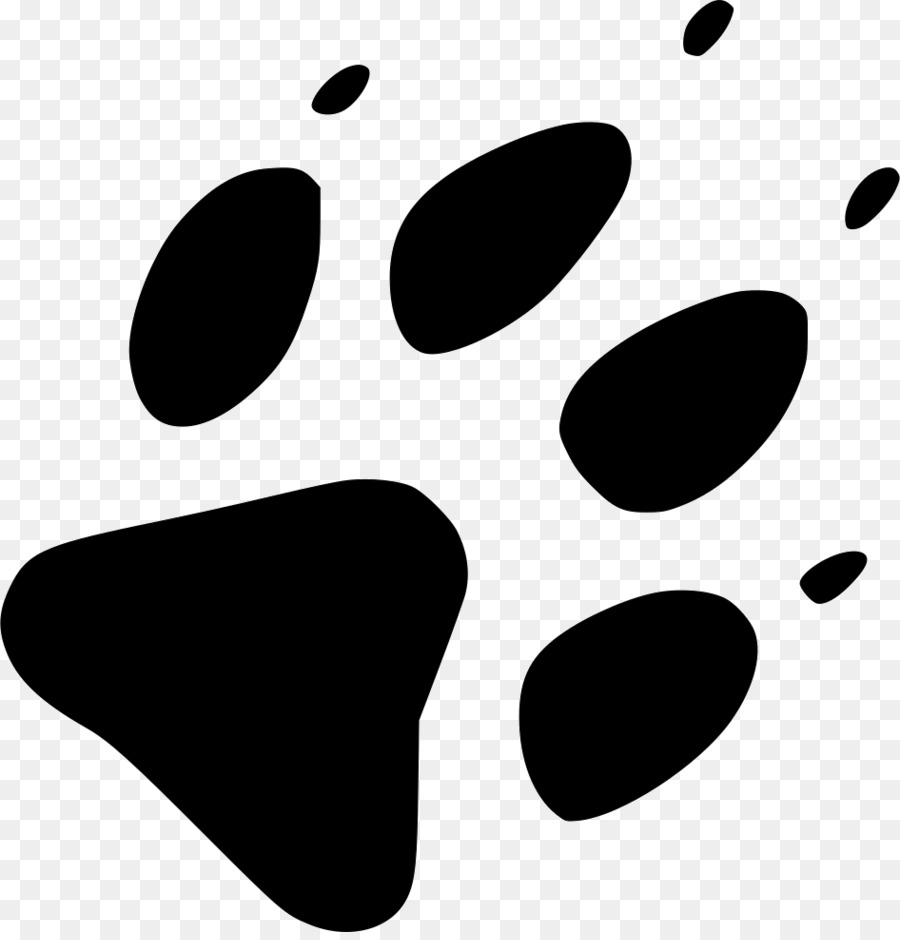 Wolf footprints clipart banner black and white library Wolf Cartoon clipart - Wolf, Footprint, Black, transparent ... banner black and white library