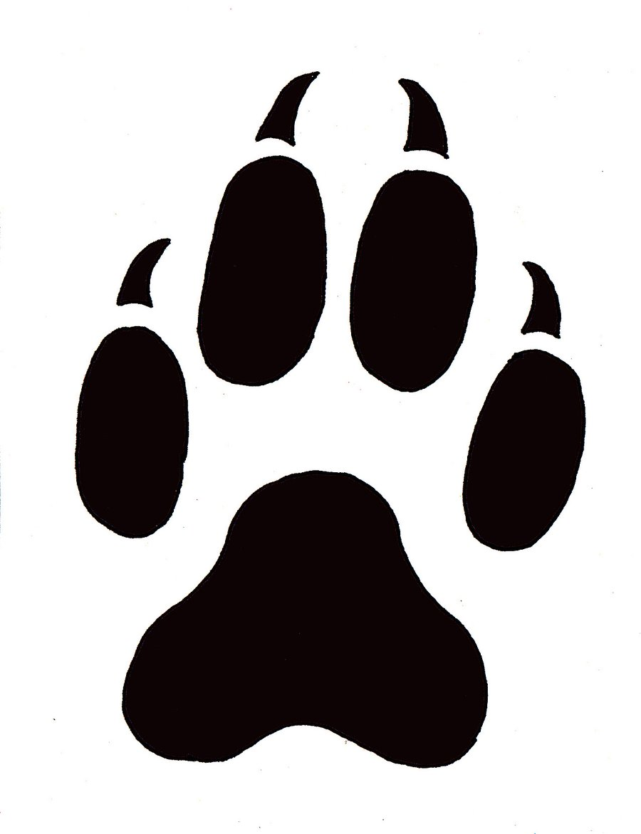 Wolf footprints clipart vector black and white Free Wolf Paw Print, Download Free Clip Art, Free Clip Art ... vector black and white