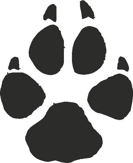 Wolf footprints clipart graphic stock Wolf footprint clipart 3 » Clipart Portal graphic stock