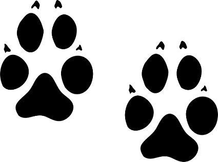Wolf footprints clipart black and white download Wolf footprint clipart 1 » Clipart Portal black and white download