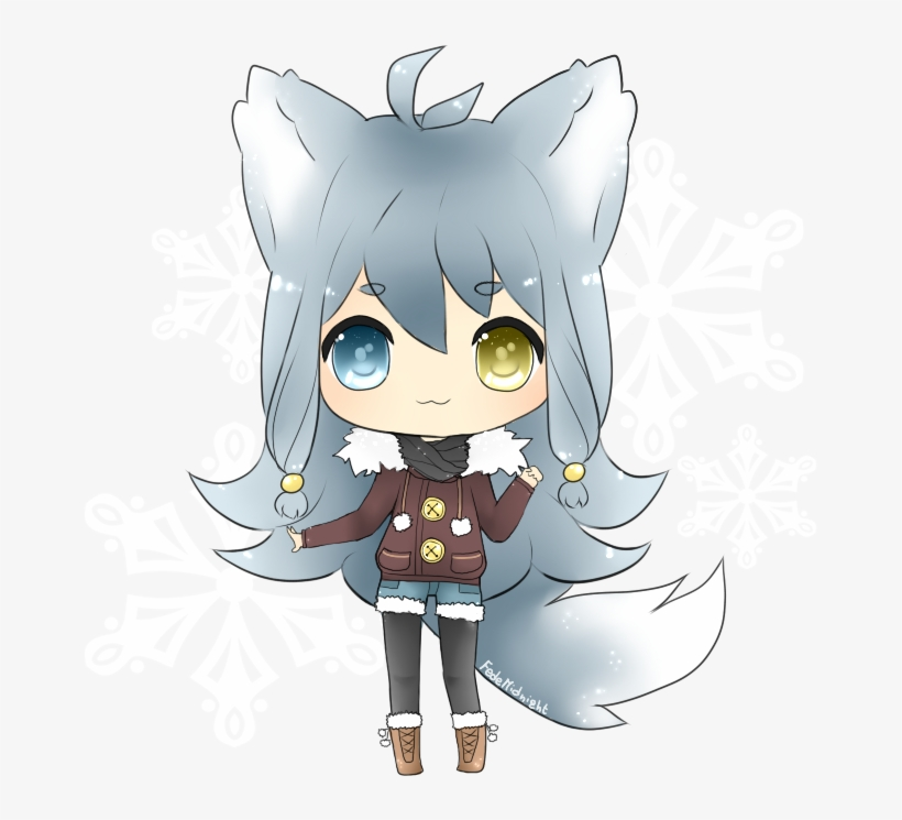 Wolf girl clipart transparent stock Arctic Wolf Clipart Female - Cute Chibi Wolf Draw ... transparent stock
