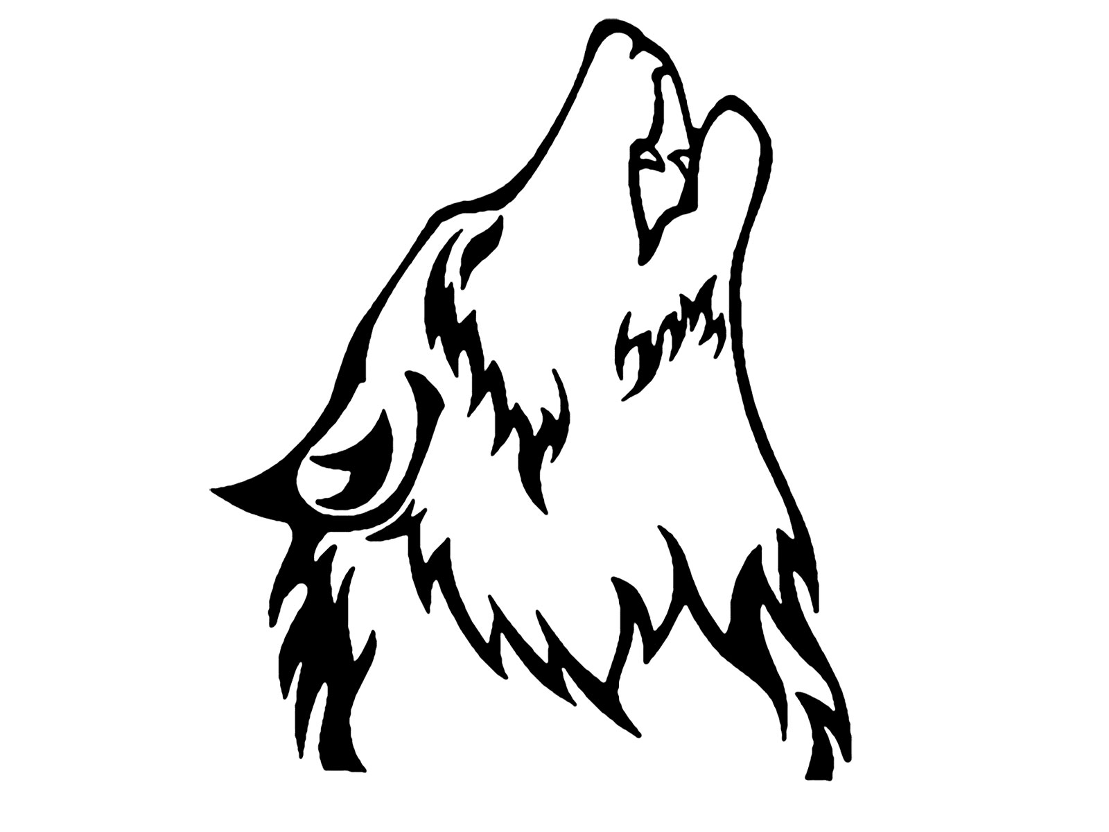 Wolf head outline clipart png free library Wolf Head Outline | Free download best Wolf Head Outline on ... png free library