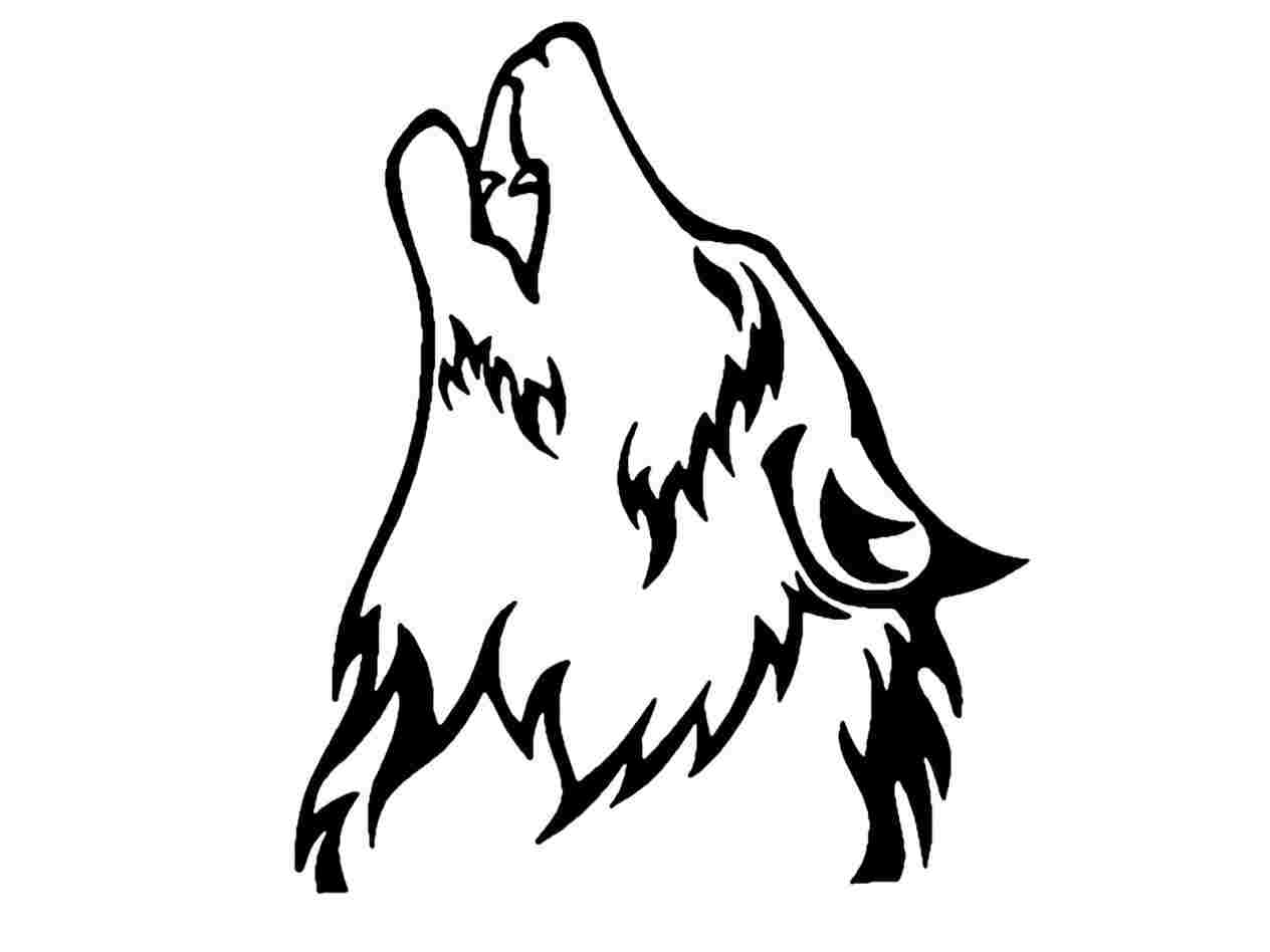 Wolf head outline clipart svg stock Wolf Head Drawing at PaintingValley.com | Explore collection ... svg stock