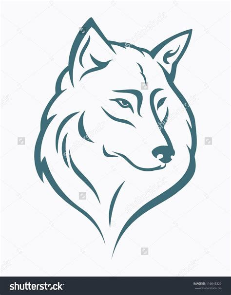 Wolf head outline clipart image royalty free 52+ Howling Wolf Head Clip Art | art in 2019 | Wolf tattoos ... image royalty free