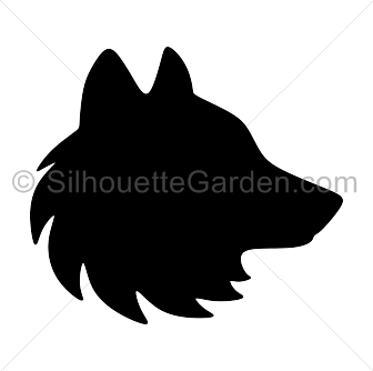Wolf head silhouette clipart picture free library Pin by Muse Printables on Silhouette Clip Art at ... picture free library