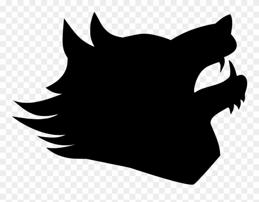 Wolf head silhouette clipart clip art freeuse Onlinelabels Clip Art - Silhouette Of A Wolf Head - Png ... clip art freeuse