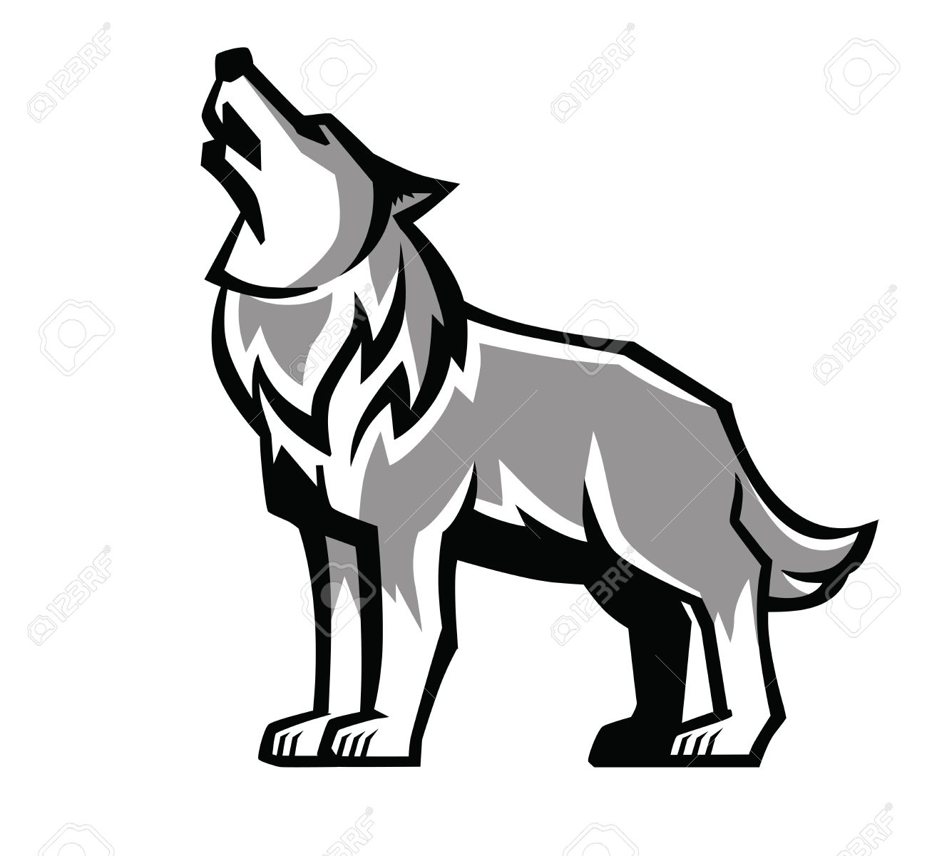 Wolf howling clipart library Wolf Howling Clipart | Free download best Wolf Howling ... library